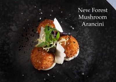 New Forest mushroom arancini