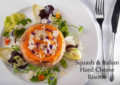 Squash & Italian hard cheese risotto