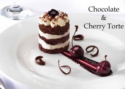 Chocolate & Cherry Torte
