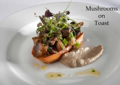 New Forest mushrooms on toast