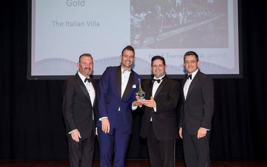 Italian Villa strikes GOLD at Dorset Tourism Awards