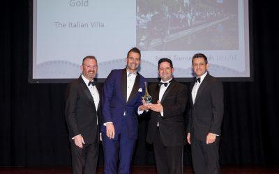 Italian Villa strikes GOLD at Dorset Tourism Awards