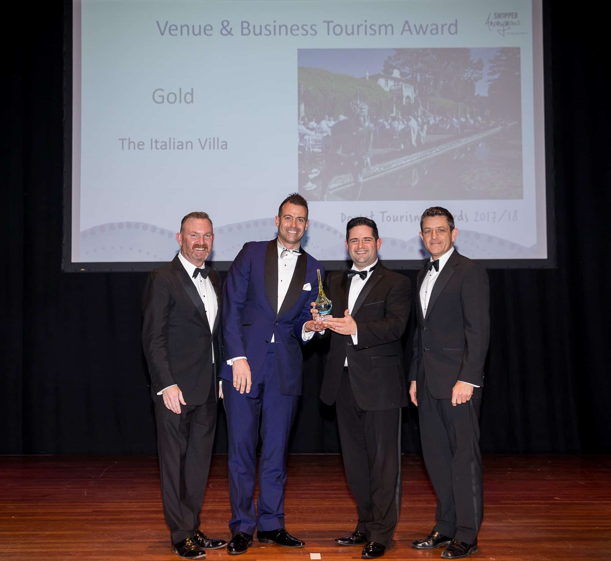 Italian Villa Wins Gold - Dorset Tourism Awards