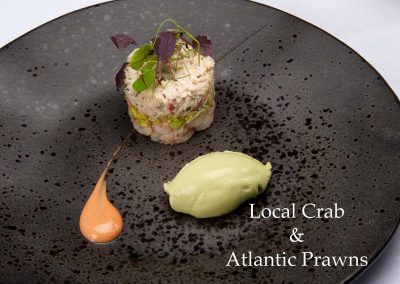 Local crab & Atlantic prawns