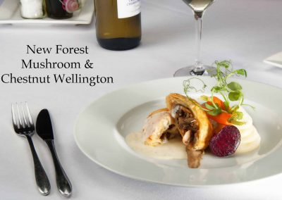New Forest mushroom & chestnut wellington