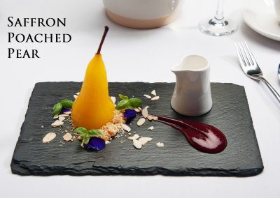 Saffron Poached Pear-web