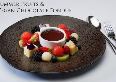 Summer fruits & vegan choc fondue1