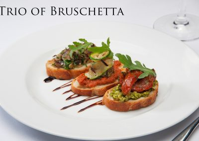 Trio of Bruschetta
