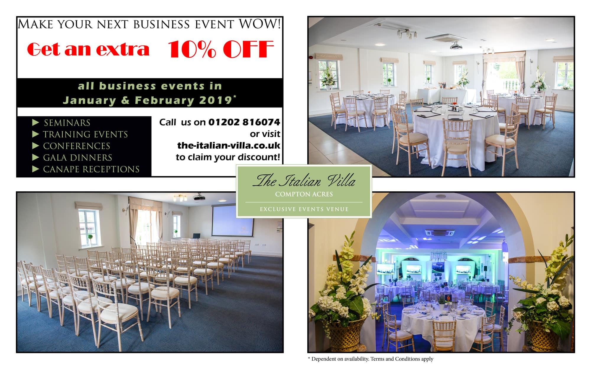 Corporate Event Venue Hire in Dorset