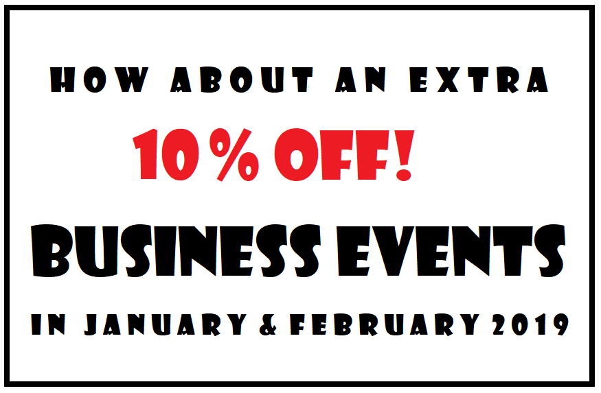 Business Events with 10% OFF!