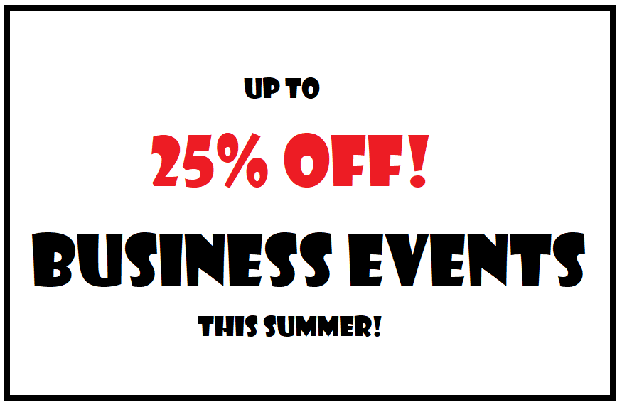Business Events with 25% OFF!