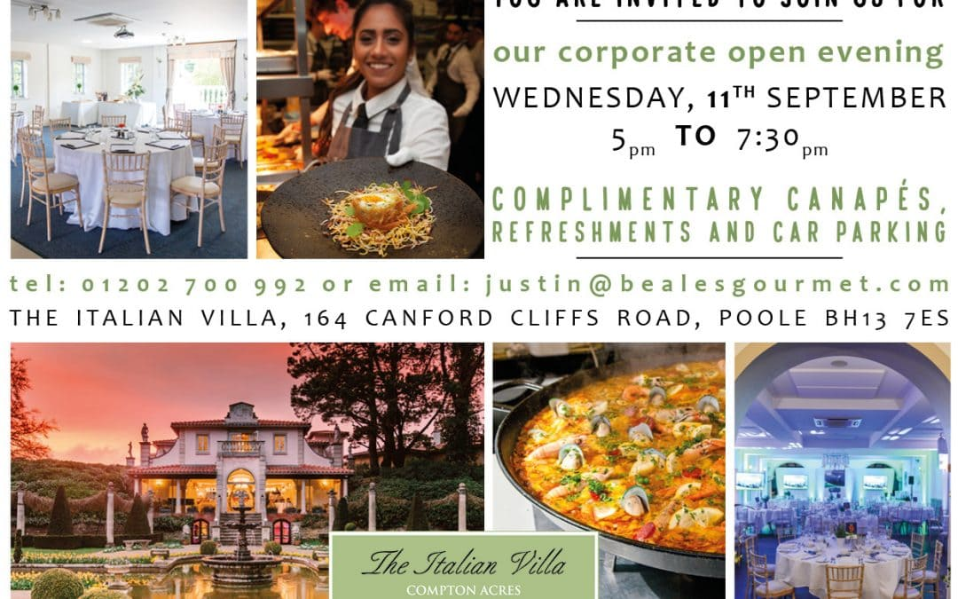 You're invited to our corporate open evening!