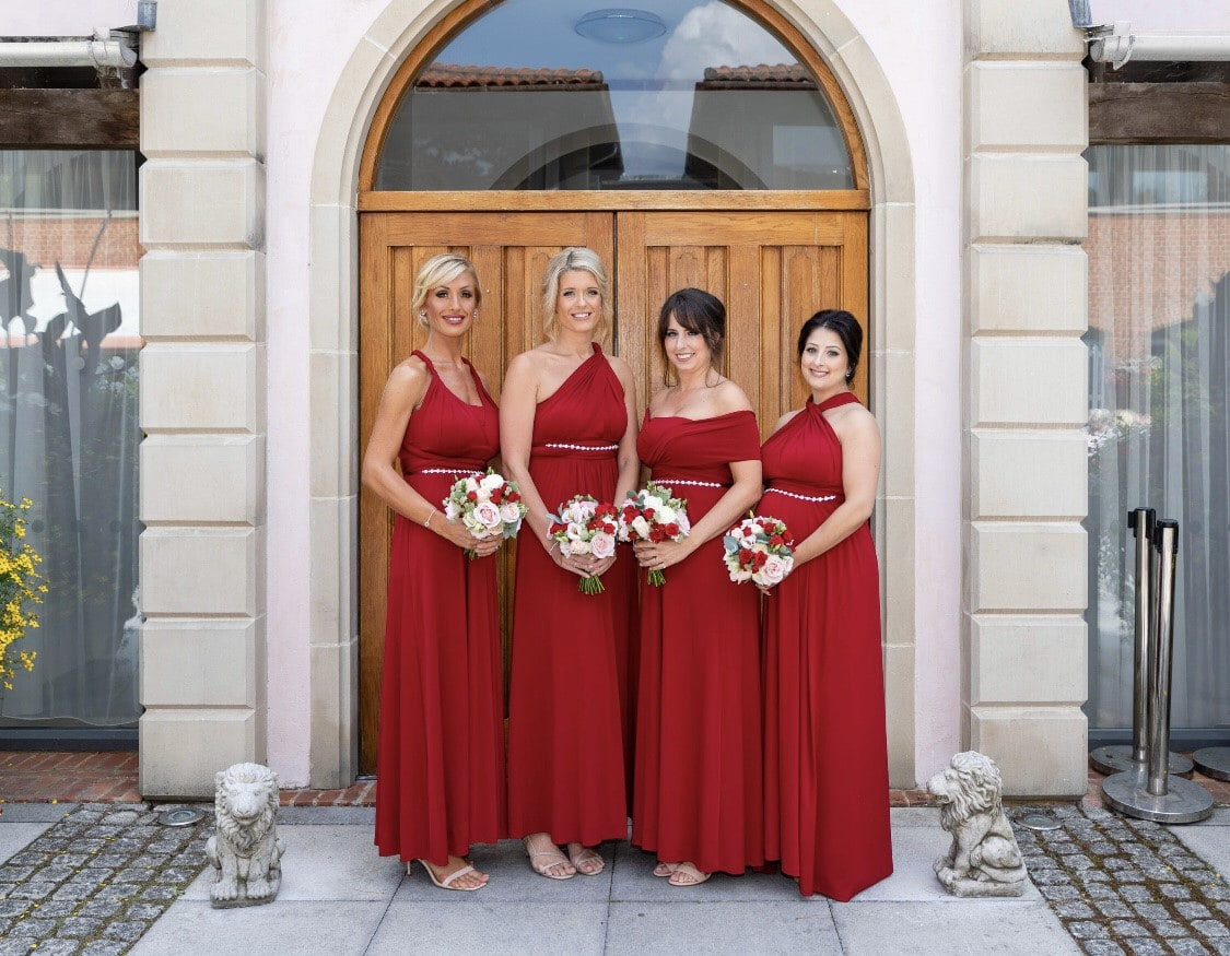 lauras-bridesmaids-at-the-italian-villa-luxury-dorset-wedding-venue-hire
